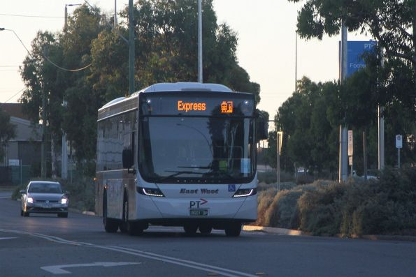 East West bus #900 BS01QP on a Sunbury line rail replacement service at West Footscray