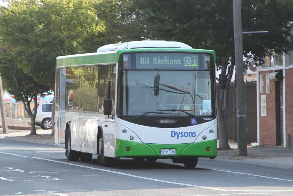 Dysons bus #302 5458AO on an all stations Sunbury line rail replacement service on Hampshire Road, Sunshine