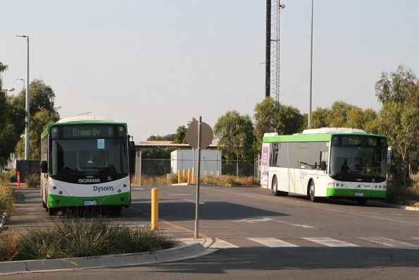 Dysons buses 0080AO and 7324AO on standby at Sunshine station