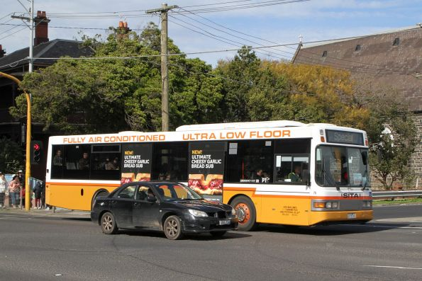Sita bus #75 2375AO on a Williamstown line rail replacement service on Hopkins Street, Footscray