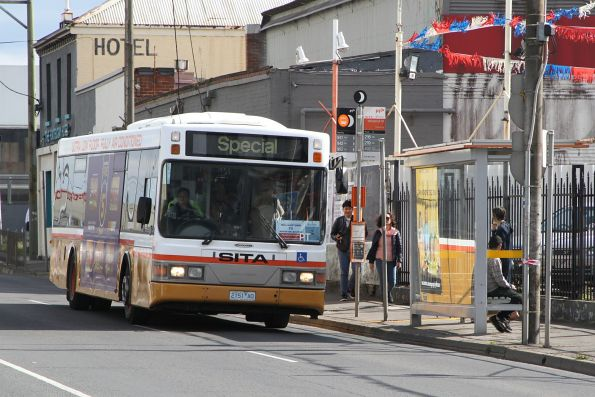 Sita bus #51 2151AO on a Williamstown line rail replacement service on Hopkins Street, Footscray