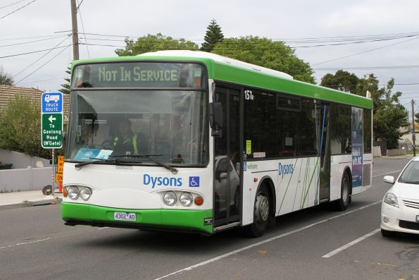 Dysons bus #151 4302AO between Sunbury rail replacement service runs on Hampshire Road, Sunshine