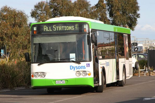 Dysons bus #152 4303AO at Sunshine station between Sunbury rail replacement services