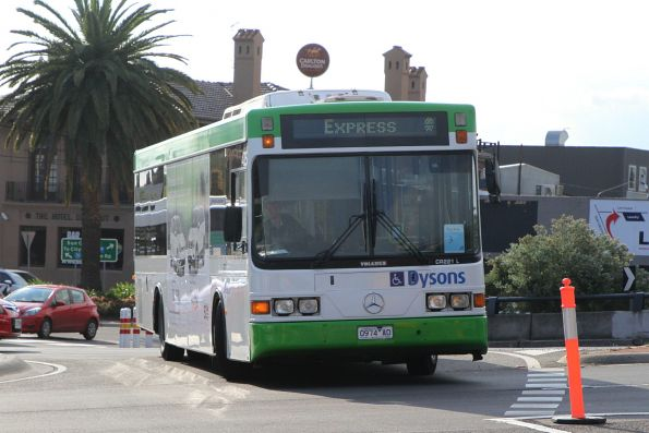 Dysons bus #425 0974AO arrives at Sunshine station on a Sunbury rail replacement services