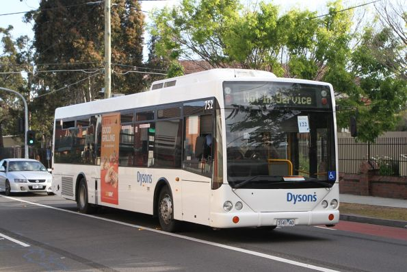 Dysons bus #752 3141AO on a Sunbury line rail replacement service along Hampshire Road, Sunshine