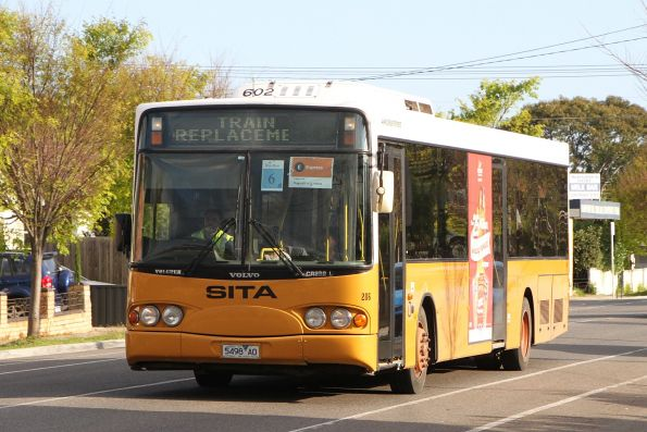 Sita bus #286 5498AO on a Sunbury line rail replacement service along Hampshire Road, Sunshine