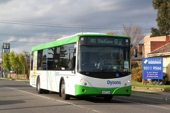 Dysons bus #304 5460AO on a Sunbury line rail replacement service along Hampshire Road, Sunshine