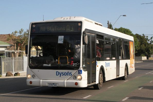 Dysons bus #748 3183AO on a Sunbury line rail replacement service along Hampshire Road, Sunshine