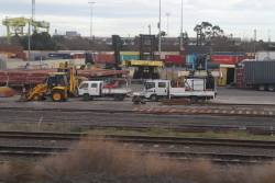 Work still ongoing to build new sidings at the north end of North Dynon