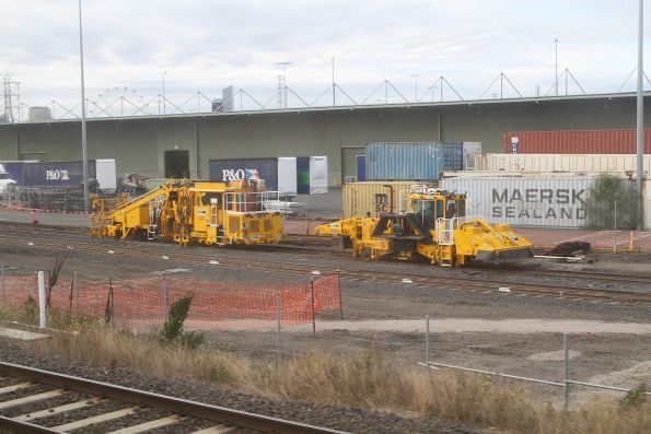 Ballast tamper and regulator at work on the upgraded sidings at North Dynon
