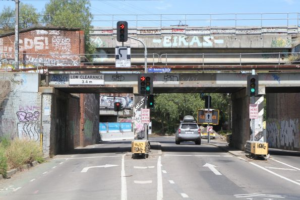 Hook turn from Lloyd Street into Bakehouse Road in Kensington due to Metro Tunnel works.