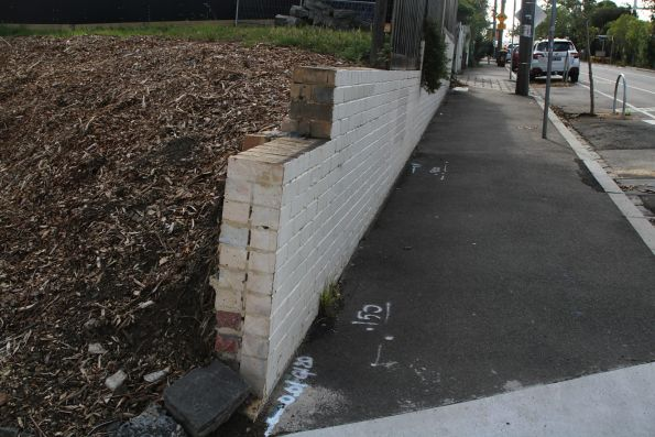 Failing retaining wall at 135-143 Ormond Street
