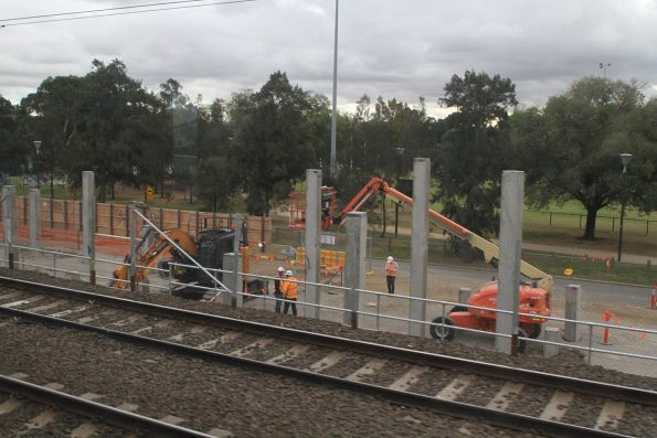 Piling works underway at the western approach to the portal