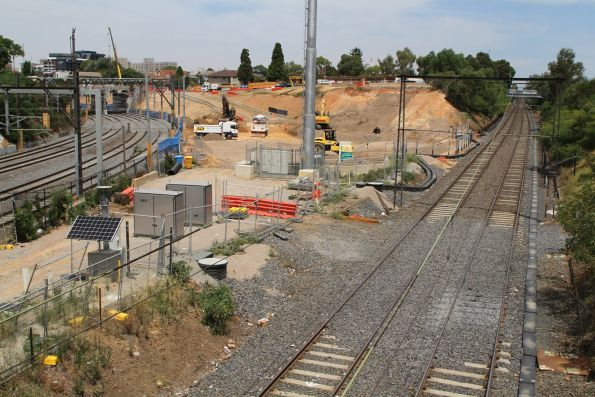 Site preparation works well underway at the South Yarra portal