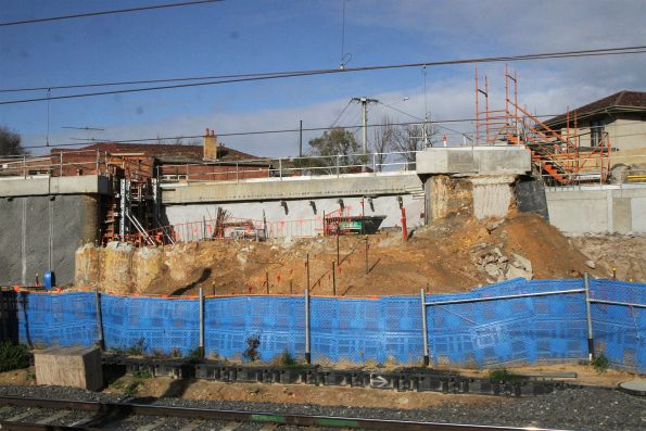 Abutments in place for the replacement William Street bridge