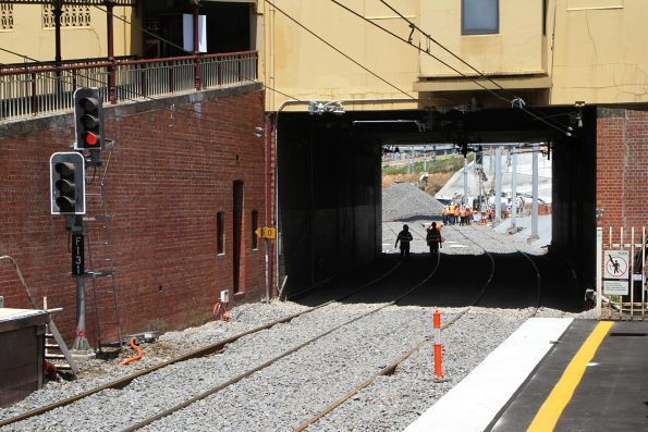 New track laid at South Yarra platform 3 and 4