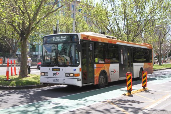 Ventura bus #517 4517AO on a tram replacement service along St Kilda Road