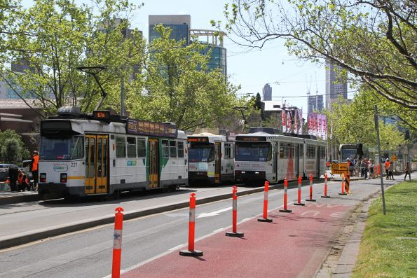 Z3.227, B2.2121 and B2.2051 terminate at the Shrine of Remembrance tram stop on St Kilda Road