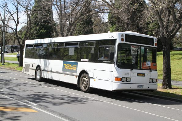 Ventura bus #1156 2522AO on a route 67 tram replacement service along St Kilda Road