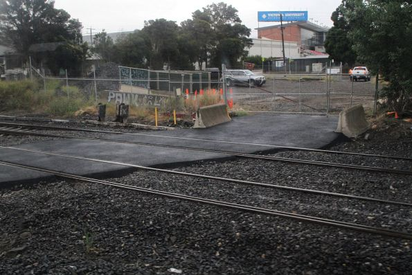 Temorary level crossing installed over the ARTC tracks at West Footscray