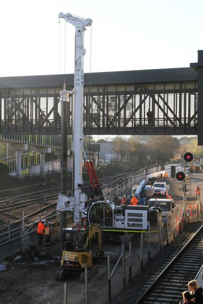 Piling works underway for the future West Footscray turnback platform
