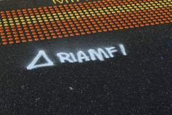 'RIAMF1' datum marker at the down end of Middle Footscray