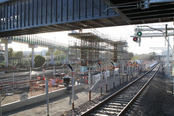 Progress on the new concourse for the West Footscray turnback platform