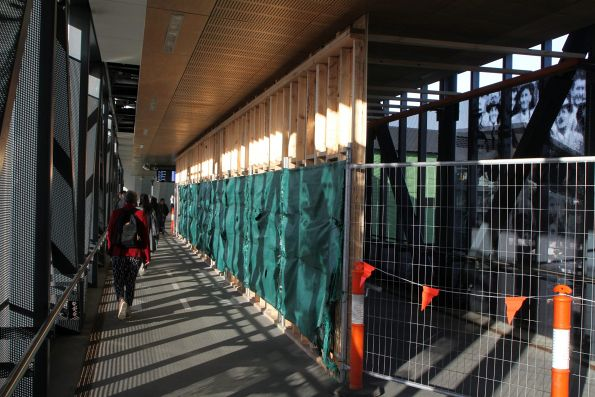 Fencing off the West Footscray footbridge so that a connection to the new concourse can be added