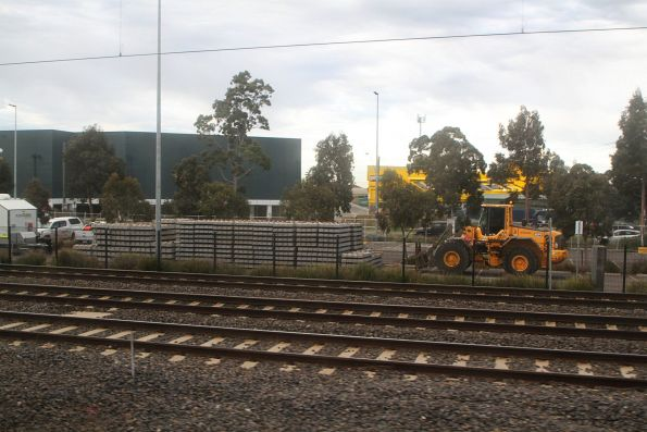 Car park at West Footscray closed so that sleepers can be stockpiled for upcoming works