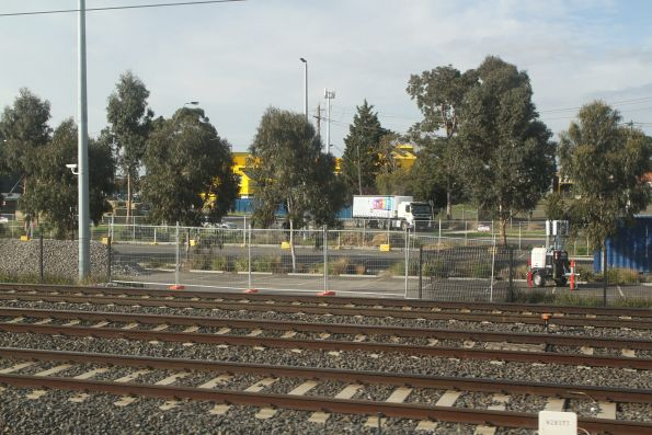 Fence removed from the West Footscray station car park to provide access to the tracks