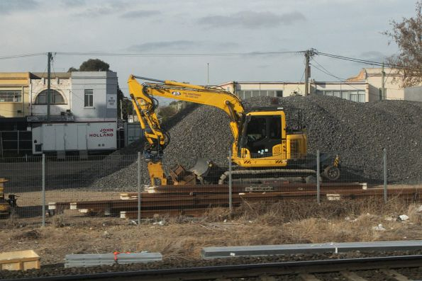 Stockpile of ballast off Buckley Street at Middle Footscray