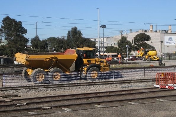 Dump trucks at the down end of West Footscray