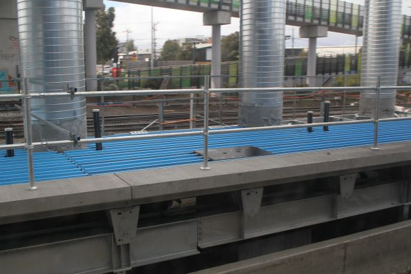 Assembling the steel deck for the new platform at West Footscray