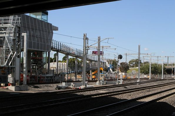 Ramp leading to new station platform taking shape