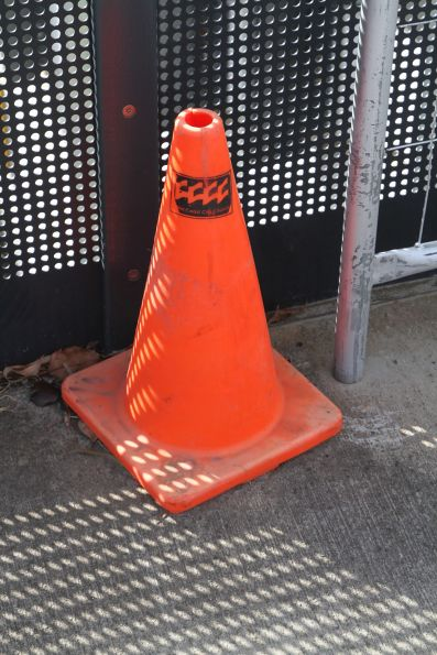 How did this Gold Coast City Council branded traffic cone end up in Footscray?