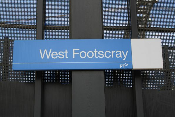 'West Footscray [ ]' signage at the former platform 1