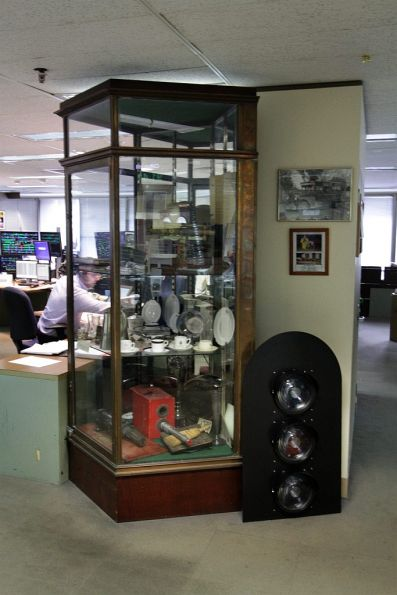 Collection of railway memorabilia on display at Metrol
