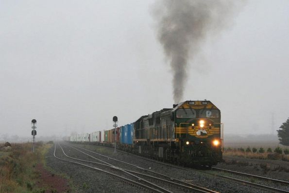 X49 smokes it up departing Gheringhap