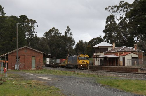 Running through the remains of the station at Creswick
