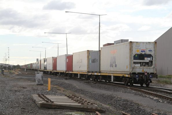 Tail end of the up Mildura freight at Brooklyn
