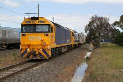G519 and 8130 lead the up Mildura freight through Laverton