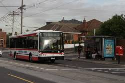 Moonee Valley Coaches bus 2277AO heads east on Dawson Street in Brunswick West
