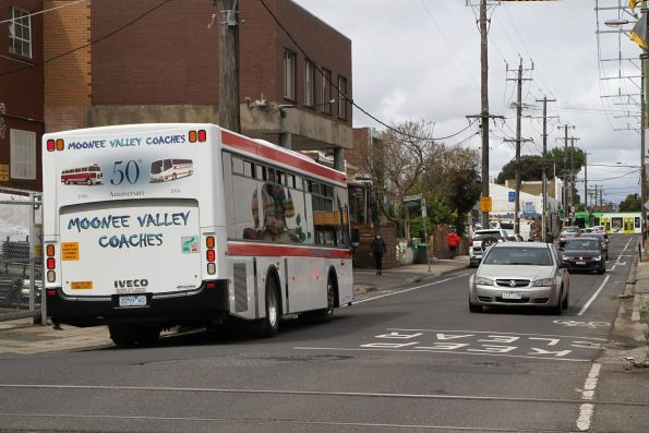 Moonee Valley Coaches bus #81 2259AO on route 503 at Anstey station