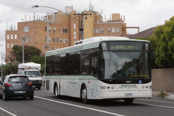 Moreland Buslines 1458AO eastbound on a route 510 service along Moreland Road