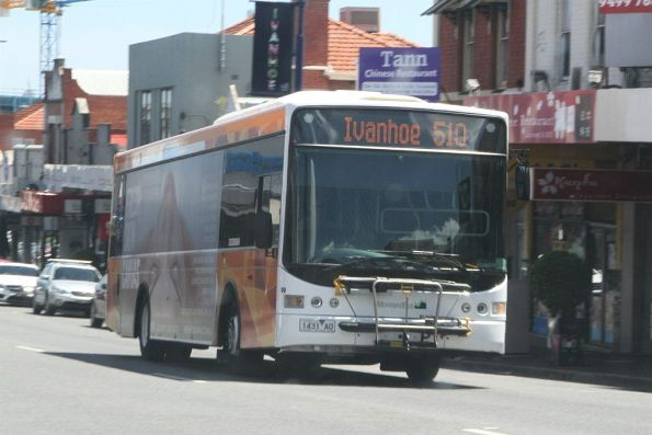 Moreland Bus #99 1431AO on route 510 in Ivanhoe