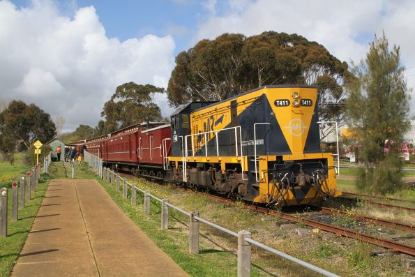 T411 on arrival at Mornington
