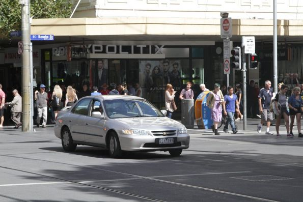 Another confused motorist at the corner of Swanston and Bourke Street