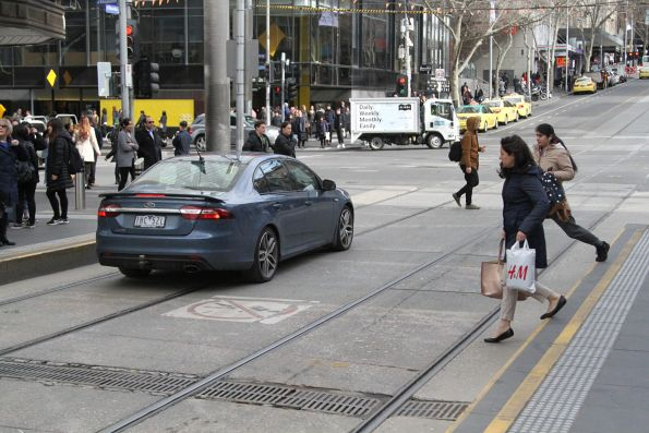 Confused motorist has driven the full length of the Bourke Street Mall without being challenged