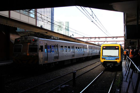 New and old at Flinders Street