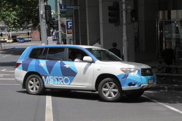 Metro 'Response Unit' on Flinders Lane - this time it is a white car